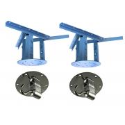 Vanessa Canzani - 01 Kit extensor ajustável para teto - 20 a 26 cm +gancho de rede de teto prata + 01 Kit extensor ajustável 26 a 37 cm + mosquetão giratório  prata