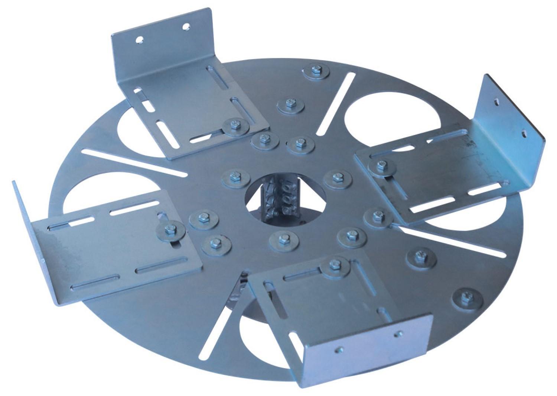 Adaptador redondo para lajes nervuradas - espessura da nervura 5 a 10 cm
