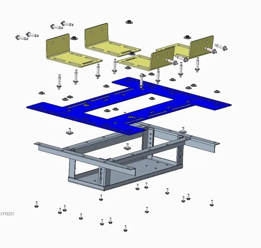 Adaptador retangular para lajes nervuradas - espessura da nervura 5 a 10 cm