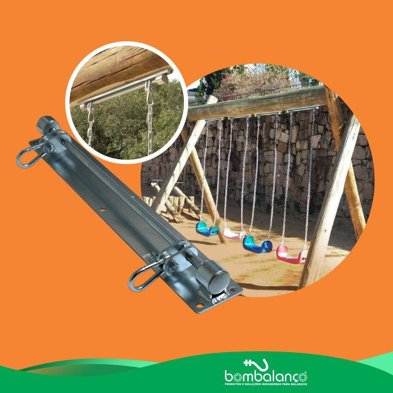 Balanço parquinho chapa retangular - zincado (capacidade 100 kg)