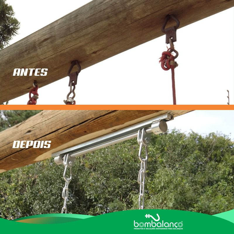 Balanço parquinho perfil U c/ furos - zincado (capacidade 100 kg)