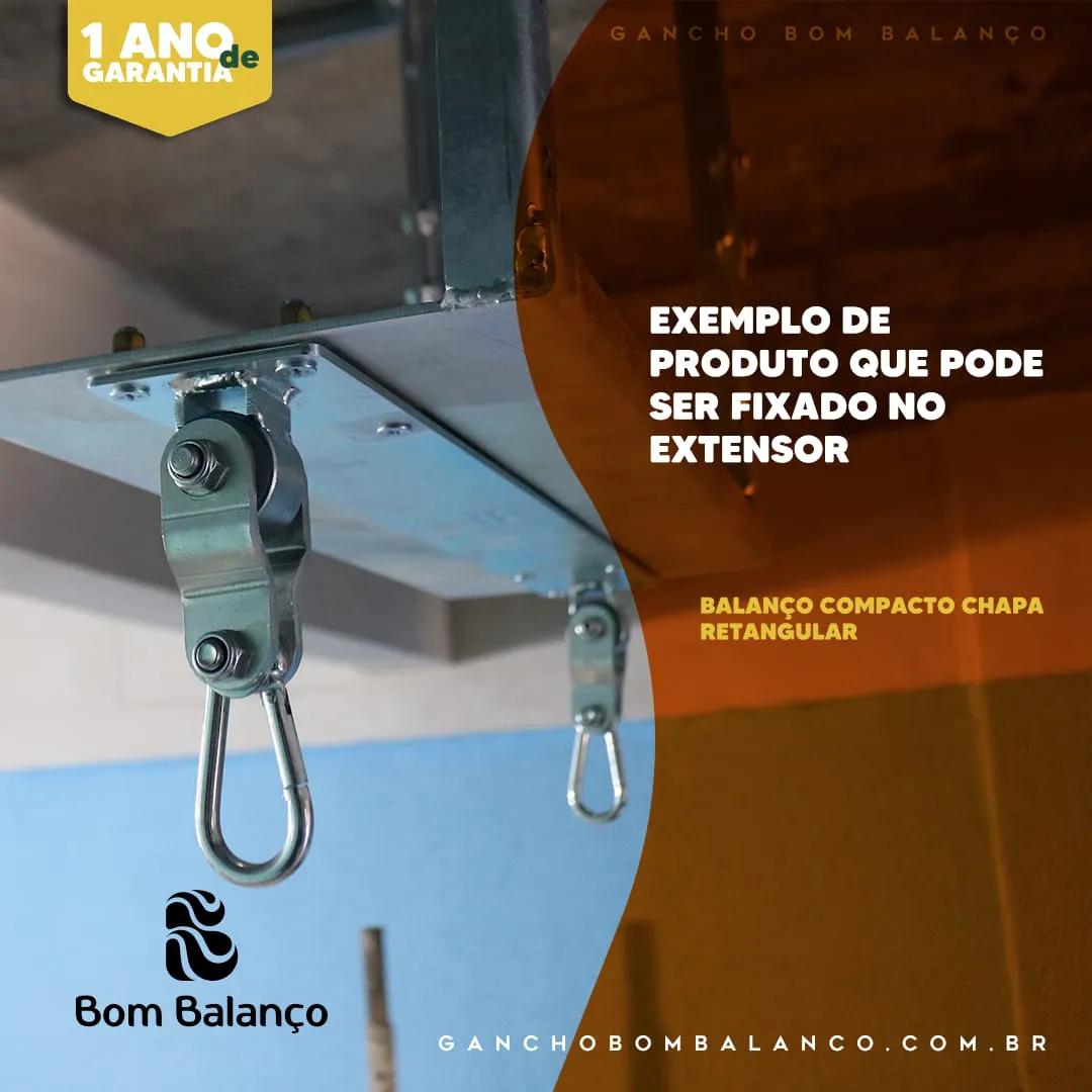 Balanço Seguro e Silencioso chapa retangular - zincado (capacidade 100 kg) - Fique em casa / instale em casa / brinque em casa