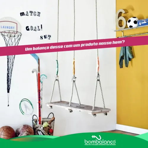 Balanço chapa retangular compacto Seguro & Silencioso - zincado (capacidade 100 kg) - Fique em casa / instale em casa / brinque em casa