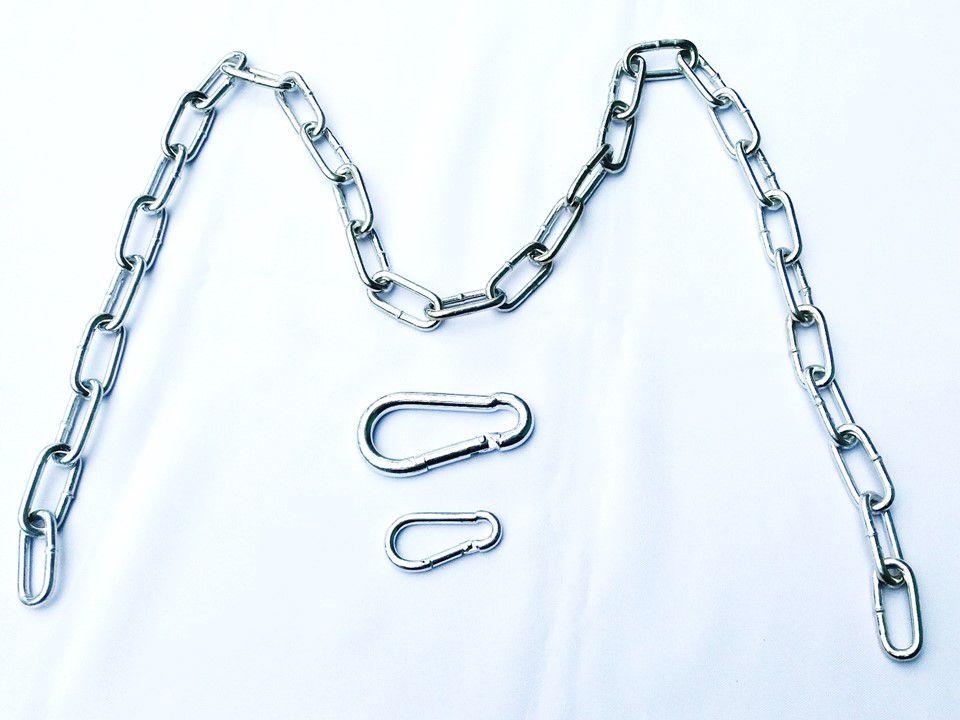 Extensão de corrente ajustável elo longo 4,5 mm - comprimento 1,5 m (zincada)