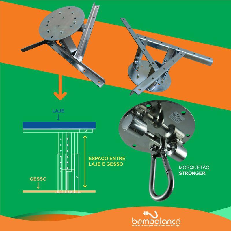 Extensor ajustável para teto com forro de gesso - 37 a 60 cm