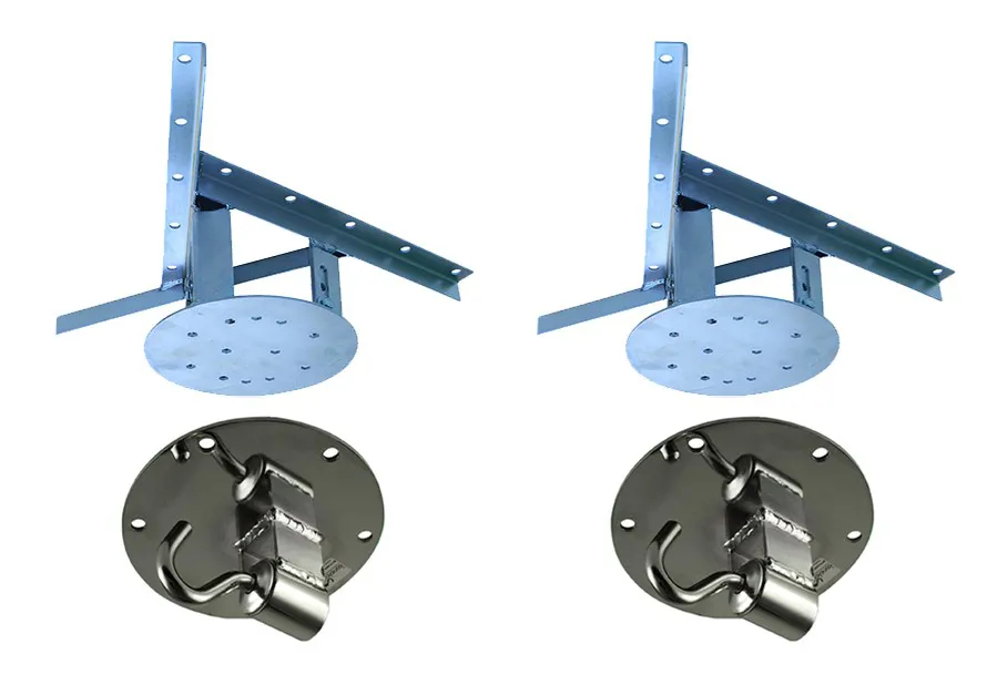 Kit 2 extensores ajustáveis para teto com forro de gesso - 15 a 20 cm + 2 ganchos de rede
