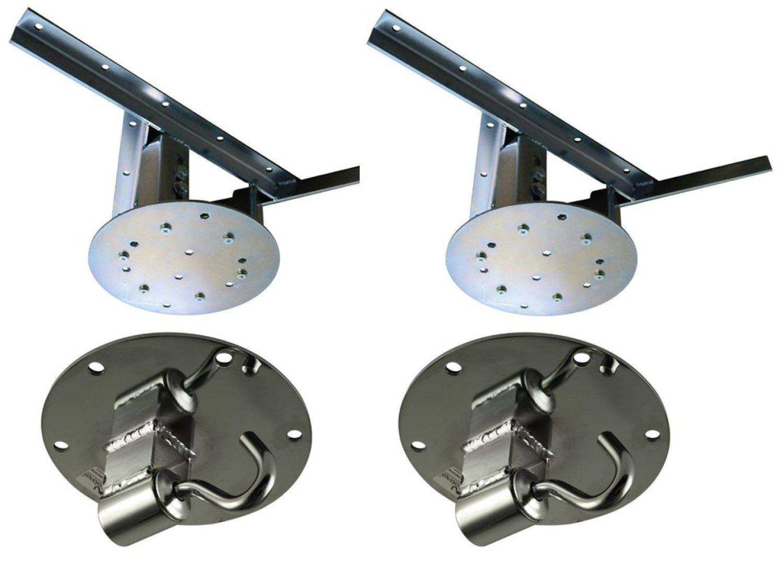 Kit 2 extensores ajustáveis para teto com forro de gesso - 26 a 37 cm + 2 ganchos de rede