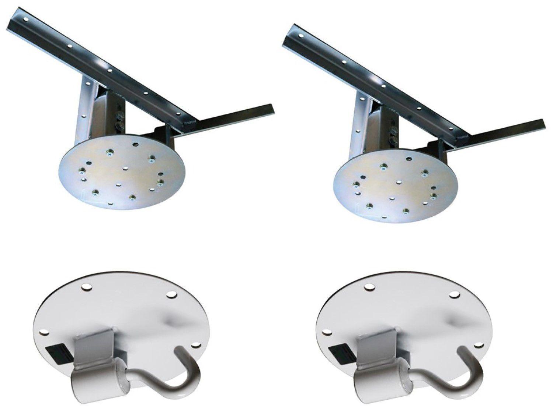 Kit 2 extensores ajustáveis para teto com forro de gesso - 37 a 60 cm + 2 ganchos de rede