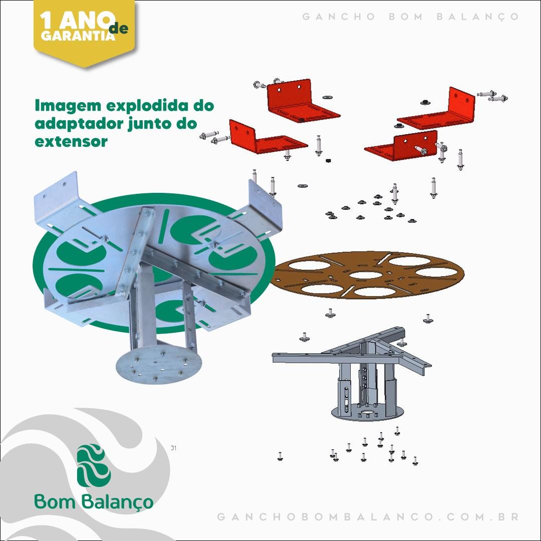 Kit adaptador redondo para lajes nervuradas + extensor 20 a 26 cm - espessura da nervura 10 a 20 cm