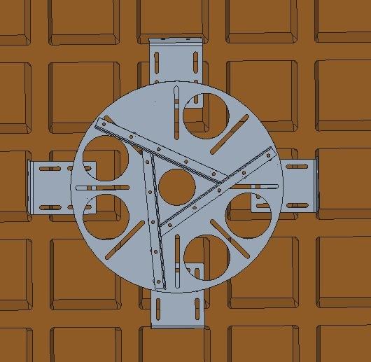 Kit adaptador redondo para lajes nervuradas + extensor 20 a 26 cm - espessura da nervura 5 a 10 cm