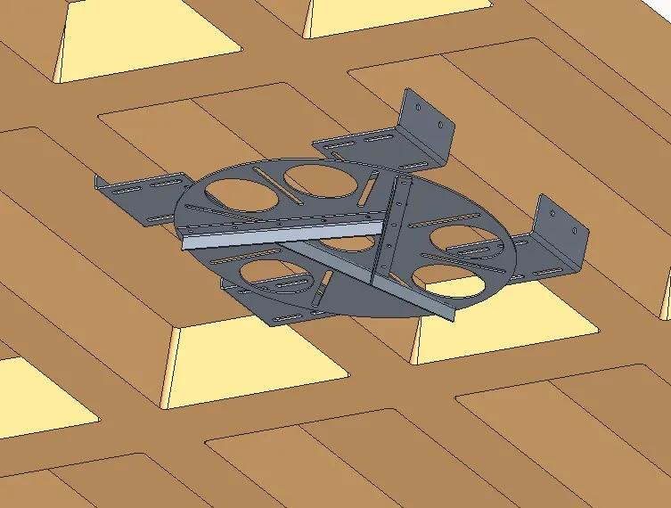 Kit adaptador redondo para lajes nervuradas + extensor 26 a 37 cm - espessura da nervura 10 a 20 cm