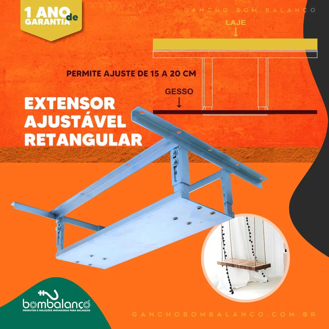 Kit Adaptador retangular para lajes nervuradas + extensor 14 a 22 cm - espessura da nervura 5 a 10 cm