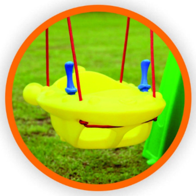 Kit balancinho jet infantil plástico com cordas + suporte perfil U compacto para instalar dentro de casa