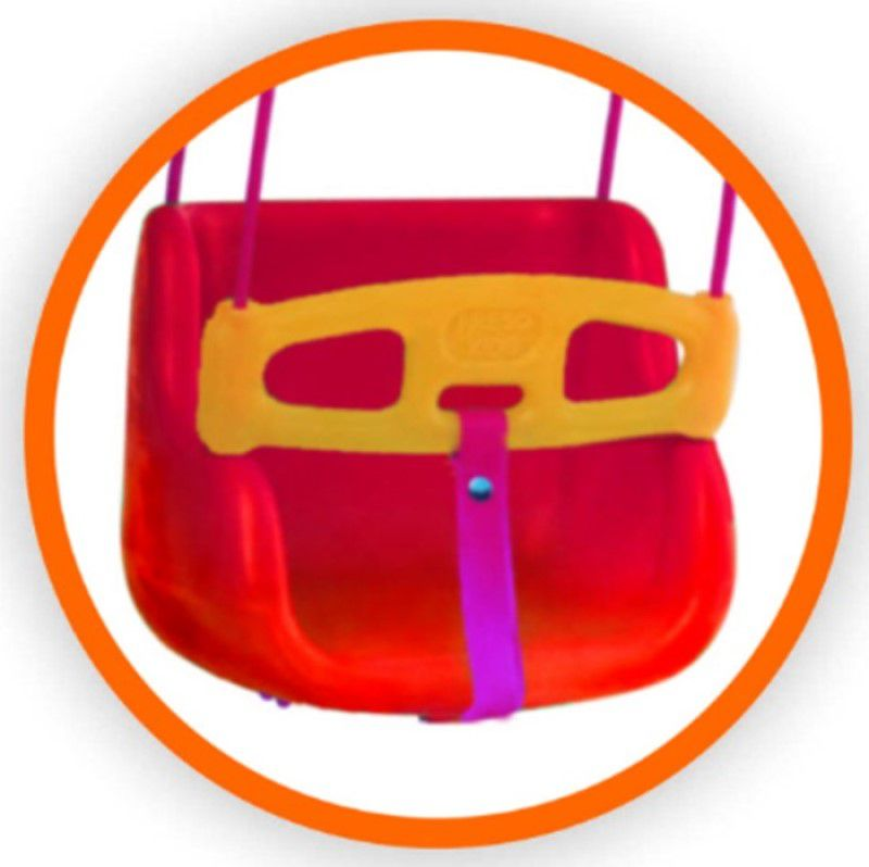 Kit balanço bebê plástico com cordas + suporte perfil U com furos para instalar dentro de casa