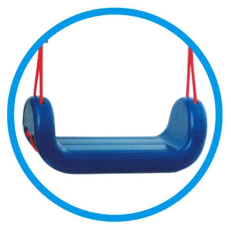 Kit balanço plástico infantil com cordas + suporte chapa retangular para instalar dentro de casa