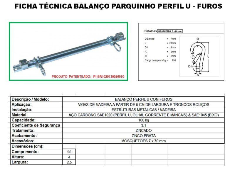 Kit balanço plástico infantil com cordas + suporte perfil U com furos para instalar dentro de casa