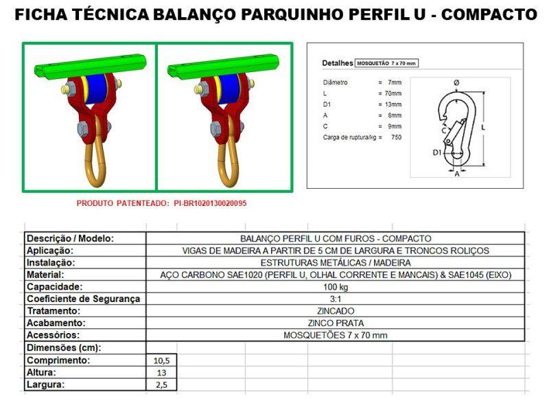 Kit balanço plástico infantil com cordas + par de suportes perfil U compacto para instalar dentro de casa