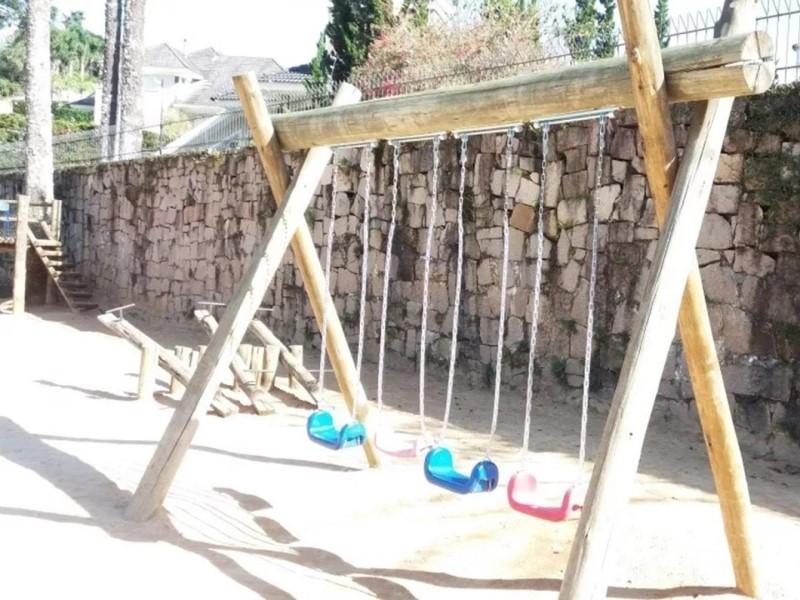 Kit balanço plástico infantil com cordas - tipo formato u