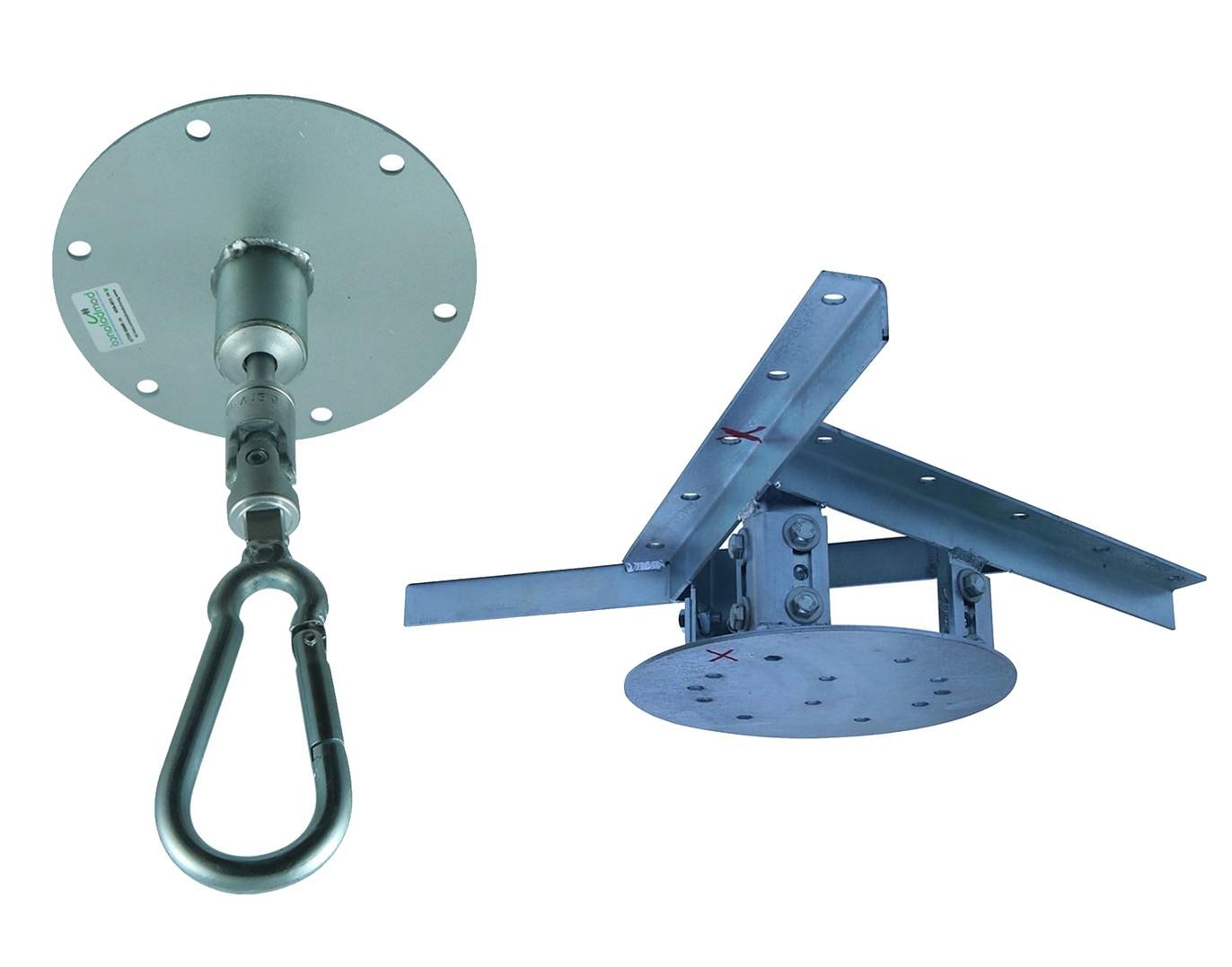 Kit extensor ajustável para teto com forro de gesso - 11 a 15 cm + mosquetão giratório