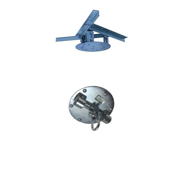 Kit extensor ajustável para teto com forro de gesso - 11 a 15cm + suporte balanço mosquetão chapa redonda