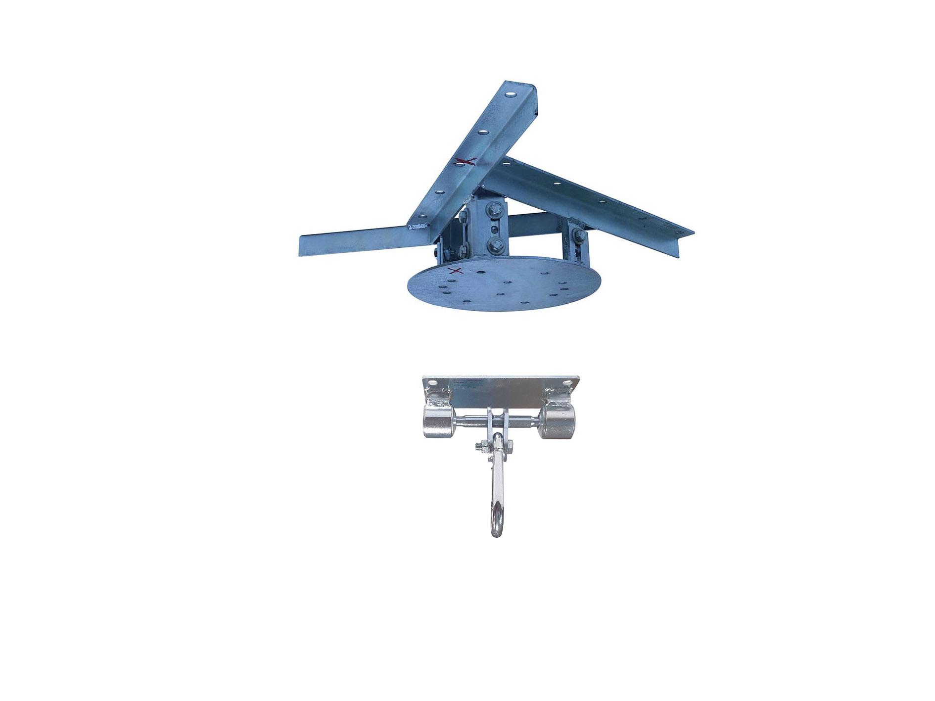 Kit extensor ajustável para teto com forro de gesso - 11 a 15cm + balanço mosquetão chapa retangular 4 furos