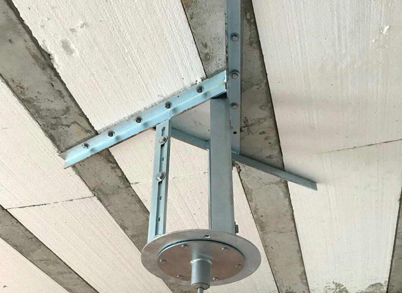 Kit extensor ajustável para teto com forro de gesso - 15 a 20 cm + gancho giratório