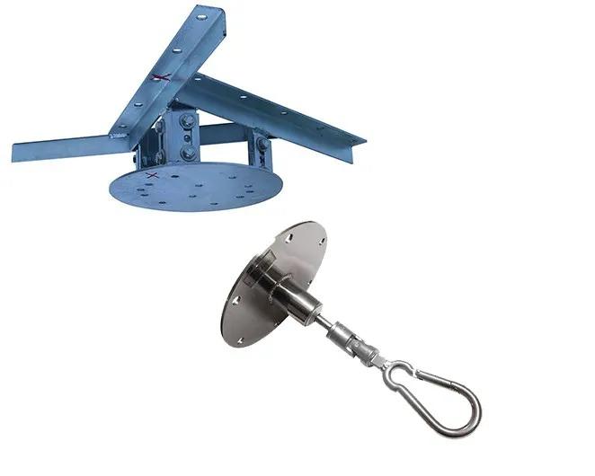 Kit extensor ajustável para teto com forro de gesso - 15 a 20 cm + mosquetão 12x140 cm giratório