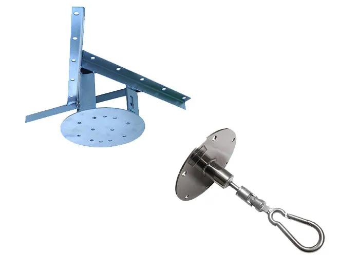 Kit extensor ajustável para teto com forro de gesso - 15 a 20 cm + mosquetão giratório