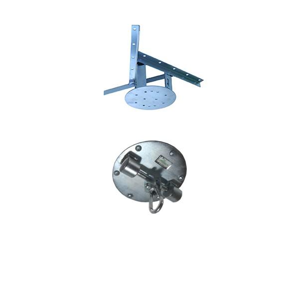Kit extensor ajustável para teto com forro de gesso - 15 a 20cm + suporte balanço mosquetão chapa redonda