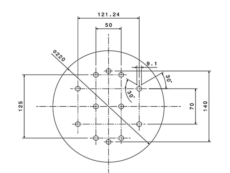 Kit extensor ajustável para teto com forro de gesso - 20 a 26 cm + gancho giratório