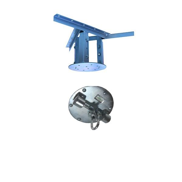 Kit extensor ajustável para teto com forro de gesso - 20 a 26cm + suporte balanço mosquetão chapa redonda