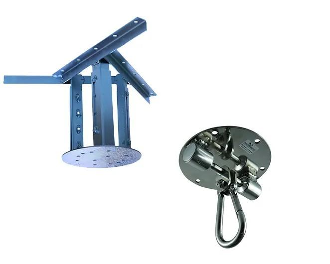 Kit extensor ajustável para teto com forro de gesso - 26 a 37 cm + balanço Stronger - capacidade 300 kg