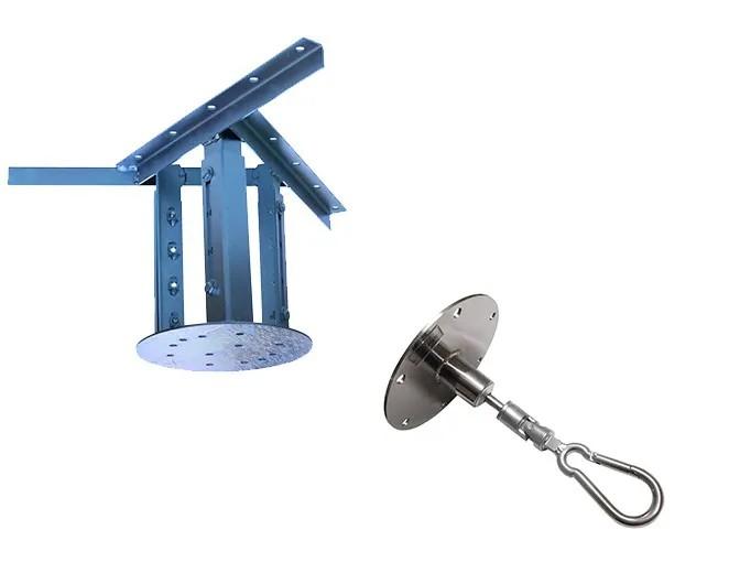 Kit extensor ajustável para teto com forro de gesso - 26 a 37 cm + mosquetão giratório