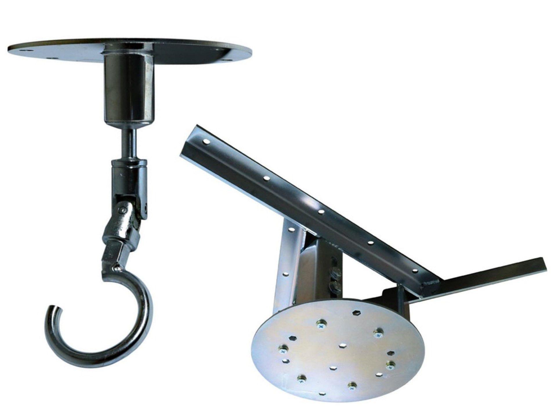 Kit extensor ajustável para teto com forro de gesso - 37 a 60 cm + gancho giratório