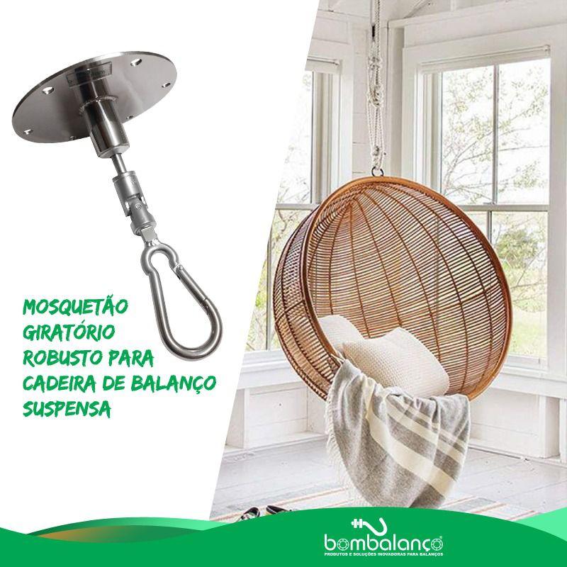 Kit extensor ajustável para teto com forro de gesso - 37 a 60 cm + mosquetão giratório