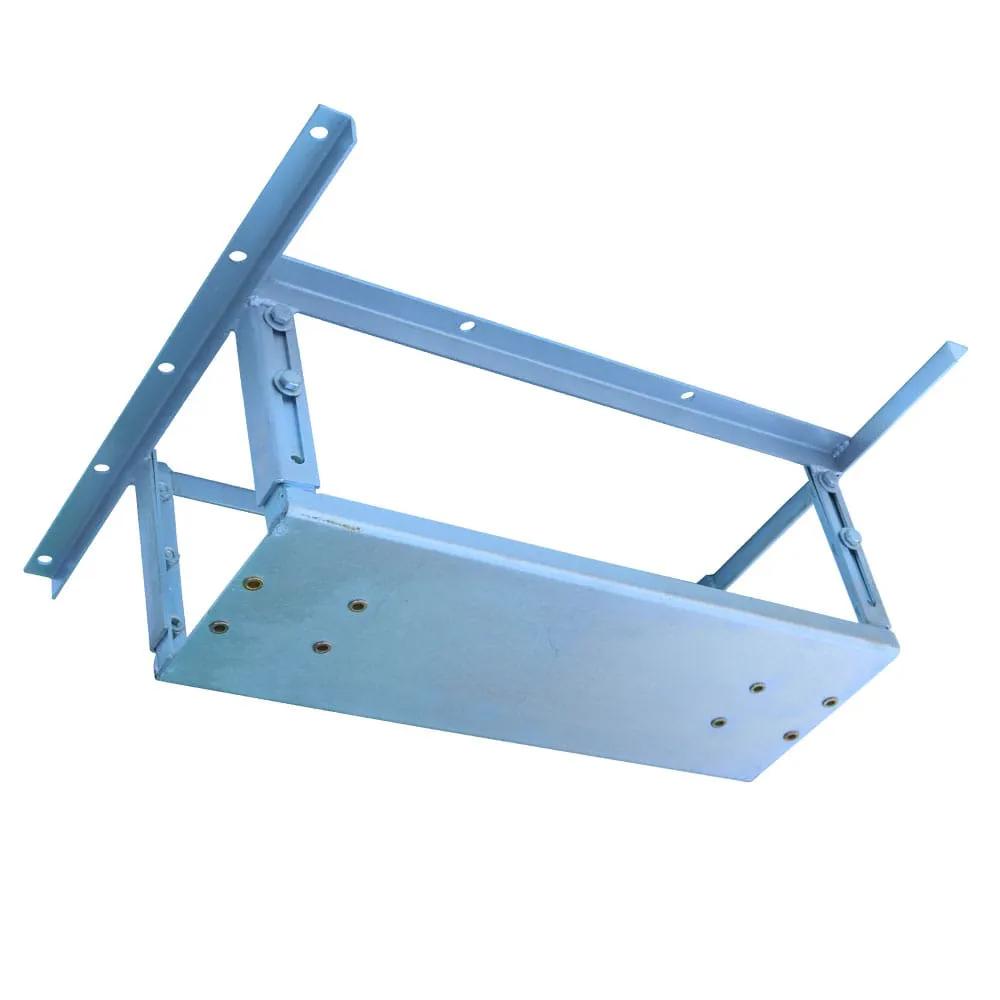 Kit extensor ajustável retangular para teto com forro de gesso - 22 a 28 cm + balanço compacto robusto chapa retangular - 200 kg