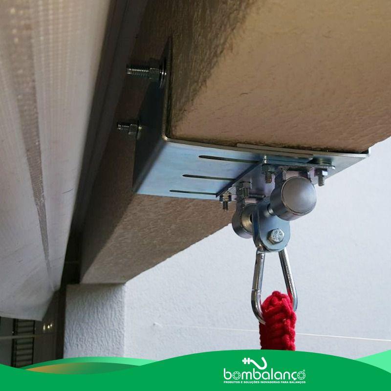 Mosquetão chapa retangular para cadeira de balanço suspensa zincado - vigas 8 a 12 cm