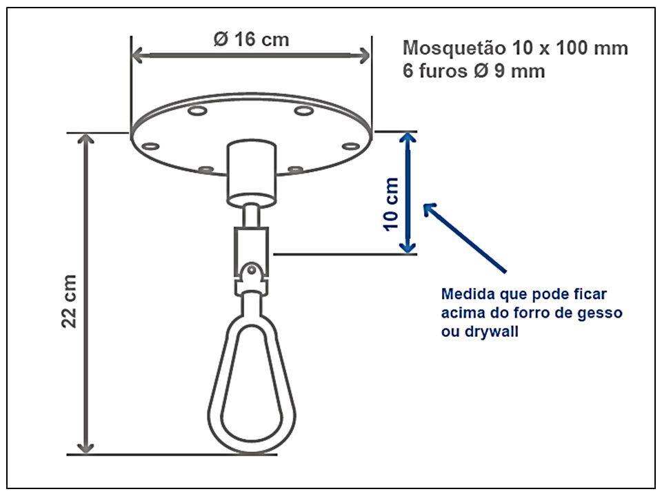 Mosquetão giratório para cadeira de balanço suspensa