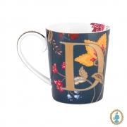 """Caneca Azul """"D"""" - Alphabet Mugs"""