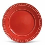 Conjunto 06 Pratos Rasos Athenas Vermelho