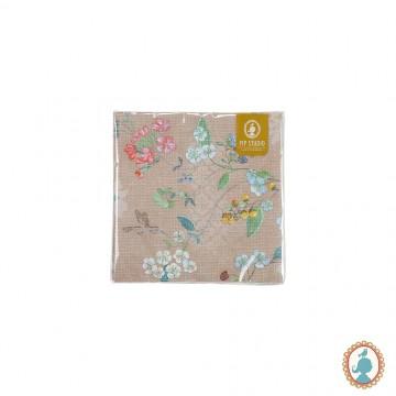 Guardanapo Hummingbirds Cáqui 20 Unidades - Floral