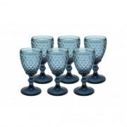 Jogo de Taças para Água Bico de Abacaxi Azul