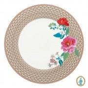 Prato de Jantar Rose Caqui - Floral