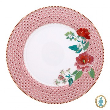Prato de Jantar Rose Rosa - Floral