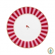 Prato de Sobremesa Vermelho Stripes - Love Birds
