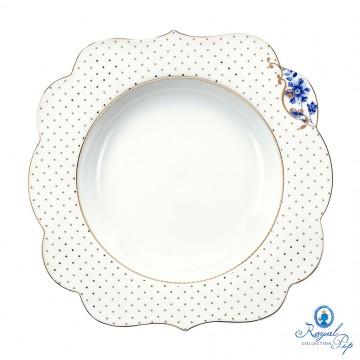 Prato de Sopa Flowers - Royal