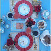 Prato Sobremesa Pip Studio - Floral Azul
