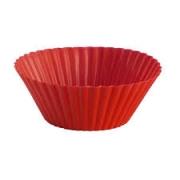 Set 6 Peças de Silicone para Muffins Vermelho