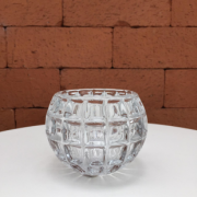 Vaso de Vidro Decorativo Transparente