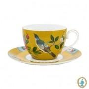 Xícara de Chá Amarelo - Blushing Birds
